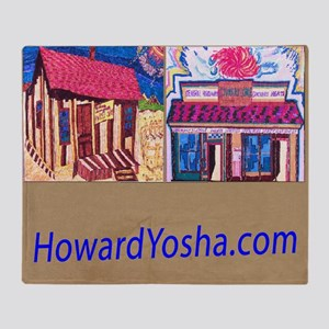 Small Framed Print 2 Storefronts Throw Blanket