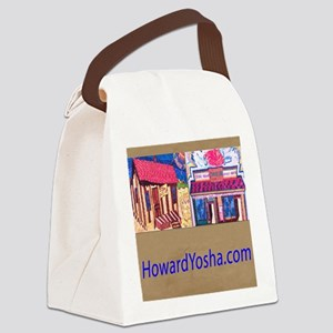 Small Framed Print 2 Storefronts Canvas Lunch Bag