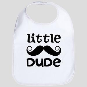 Mustache Little Dude Bib