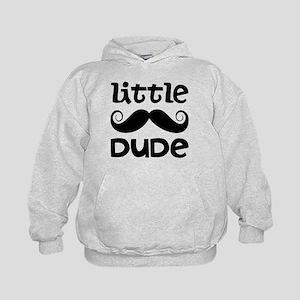 Mustache Little Dude Kids Hoodie
