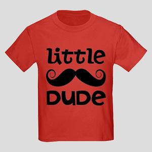 Mustache Little Dude Kids Dark T-Shirt
