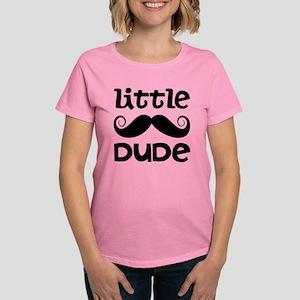 Mustache Little Dude Women's Dark T-Shirt