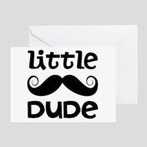 Mustache Little Dude Greeting Card