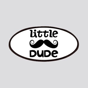 Mustache Little Dude Patches