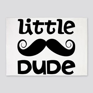 Mustache Little Dude 5'x7'Area Rug