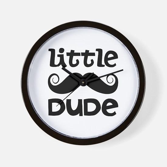 Mustache Little Dude Wall Clock