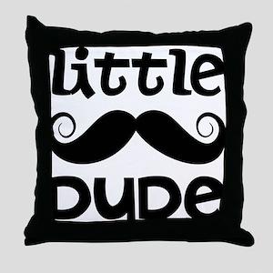 Mustache Little Dude Throw Pillow