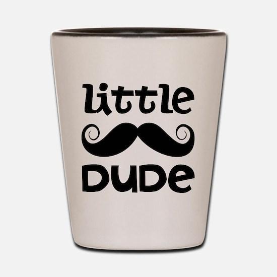 Mustache Little Dude Shot Glass