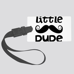Mustache Little Dude Large Luggage Tag