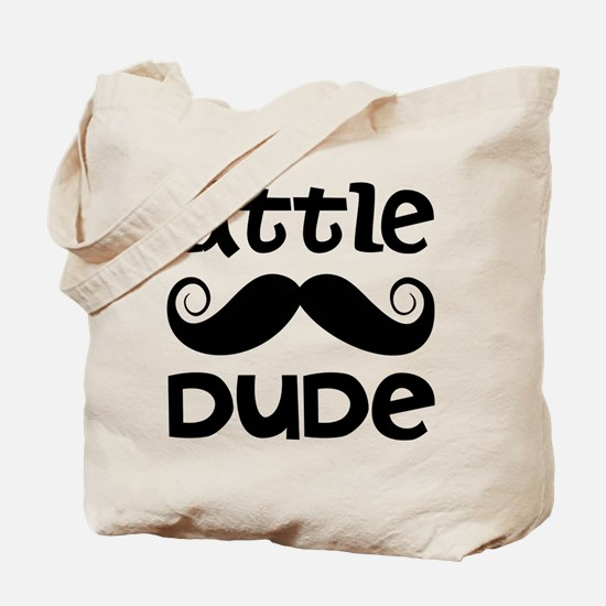 Mustache Little Dude Tote Bag