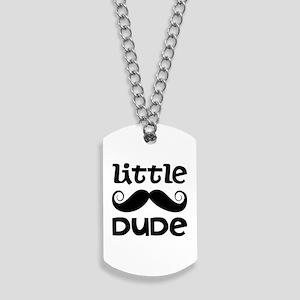 Mustache Little Dude Dog Tags