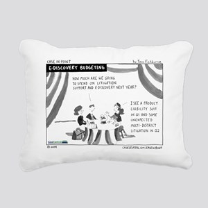 eDiscovery Budgeting Rectangular Canvas Pillow