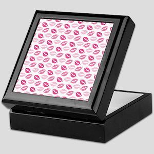 Pink Lips Keepsake Box