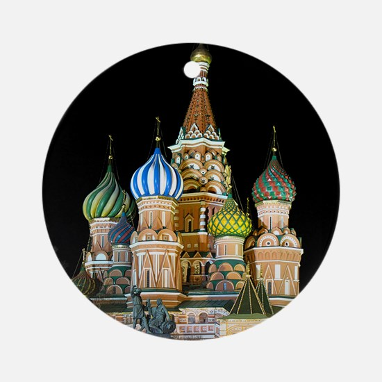 St. Basil Cathedral Moscow Round Ornament