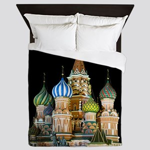 St. Basil Cathedral Moscow Queen Duvet