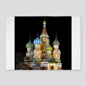 St. Basil Cathedral Moscow 5'x7'Area Rug