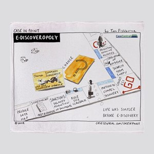 eDiscoveropoly Throw Blanket