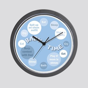 Boy Baby Time Clock Wall Clock