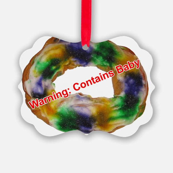 King Cake with text Ornament