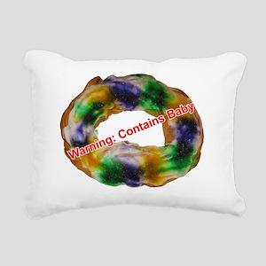 King Cake with text Rectangular Canvas Pillow