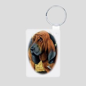 bloodhound portrait fuerte Aluminum Photo Keychain