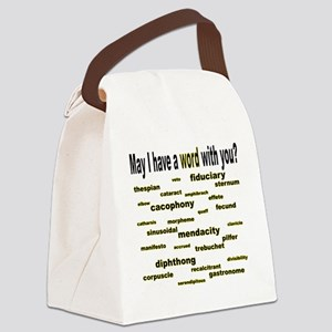 words words words goldenrod corre Canvas Lunch Bag
