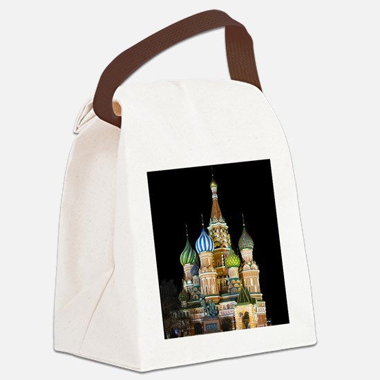 St. Basil Cathedral Moscow Canvas Lunch Bag