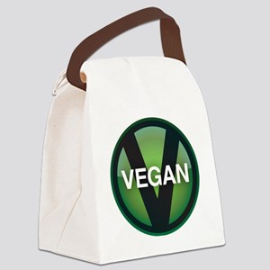 VeganButton Canvas Lunch Bag