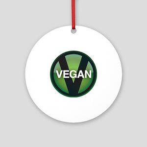 VeganButton Round Ornament