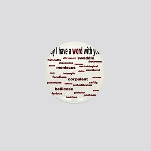 words words words red2 Mini Button