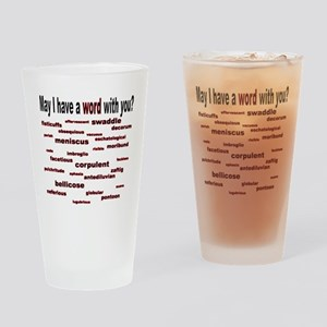 words words words red2 Drinking Glass