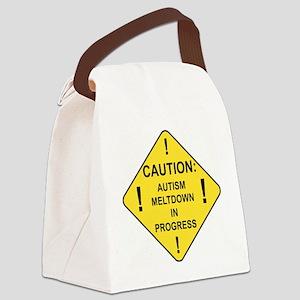 CAUTION Canvas Lunch Bag