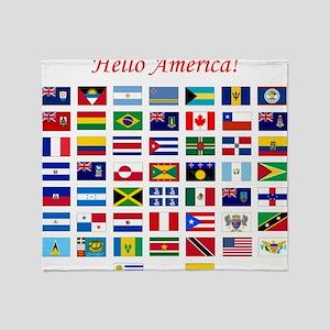 America flags pillow Throw Blanket