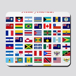 America flags bag Mousepad
