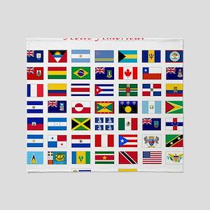 America flags bag Throw Blanket