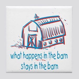 What happens in the barn Tile Coaster