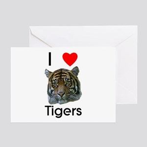 I Love Tigers Greeting Cards (Pk of 10)