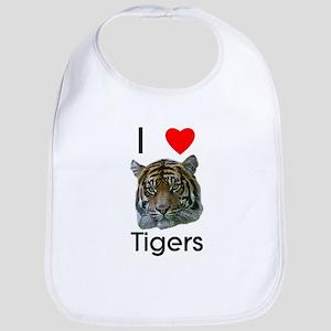 I Love Tigers Bib
