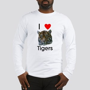 I Love Tigers Long Sleeve T-Shirt