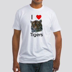I Love Tigers Fitted T-Shirt
