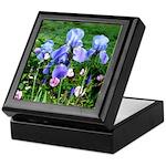 Iris and Antique Roses Keepsake Box