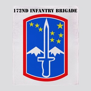 SSI -172nd Infantry Brigade with tex Throw Blanket