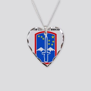 SSI -172nd Infantry Brigade w Necklace Heart Charm