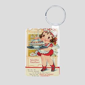 maid Aluminum Photo Keychain
