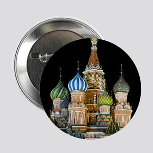 """St. Basil Cathedral Moscow 2.25"""" Button"""