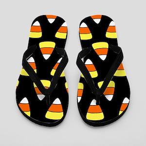 'Candy Corn' Flip Flops