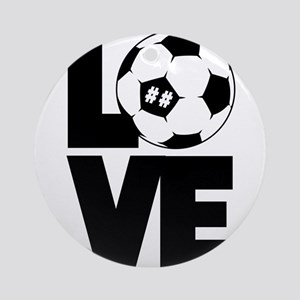 Soccer Love Round Ornament