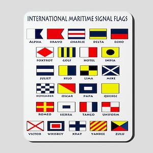 Maritime flags transparent Mousepad