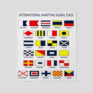 Maritime flags transparent Throw Blanket