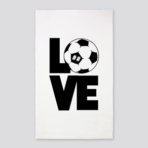 Soccer Love Area Rug